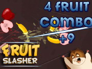 Playing Fruit Ninja HD