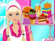 Barby kávéházban dolgozik