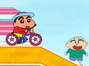 Crayon Shin Chan Rides Bicycle
