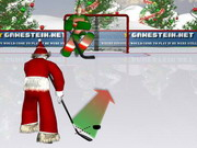 Santa's hockey shootout