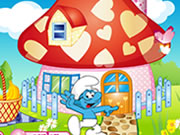 Play Smurf House Decorating