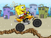 Play Spongebob Snow Motorbike
