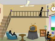 Stickman Death Living Room