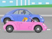 Barbi esküvői autó futás