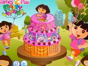 Dóra szülinapi torta díszítő - Dóra a felfedező ingyen játékok gyerekeknek