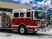 Winter Firefighters Truck