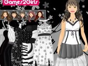 Leena Black & White Dressup