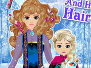 Elsa és anyukája frizurája