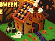 Halloweeni ház alakítás
