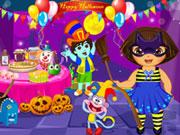 Dóra Halloween partija
